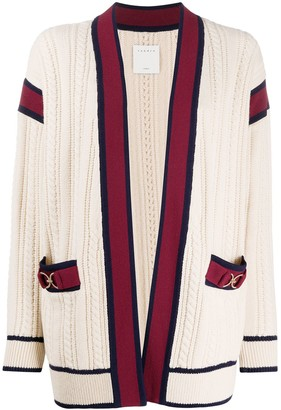 Sandro San cable knit cardigan