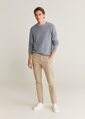 MANGO MAN - Knit cotton sweater off white - S - Men