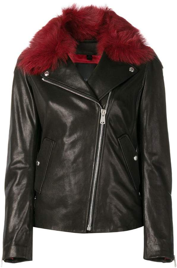 Belstaff fur collar biker jacket
