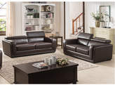AC Pacific Calvin 2 Piece Leather Living Room Set