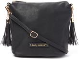Kathy Ireland Black Tassel Crossbody Bag