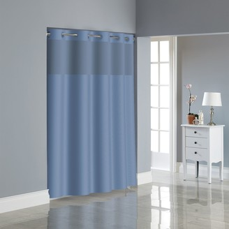 Hookless Dobby Texture Shower Curtain & Liner