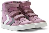 Hummel Pink Orchid Hace Stadil Canvas High Jr Trainers