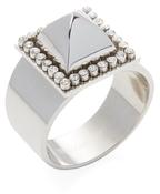 Rebecca Minkoff Pave Studded Pyramid Ring