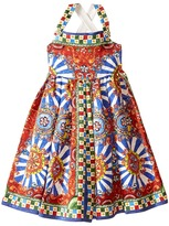Dolce & Gabbana Wheel Crisscross Back Dress (Big Kids)