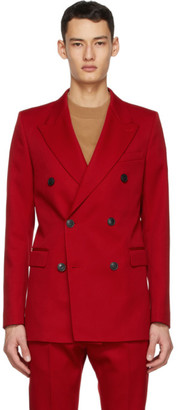 Ami Alexandre Mattiussi Red Wool Double-Breasted Blazer