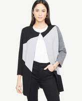 Ann Taylor Petite Colorblock Sweater Coat
