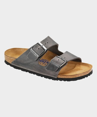 Birkenstock Arizona Oiled Leather Soft Footbed in Iron