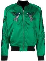 Diesel embroidered satin bomber jacket