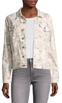 7 For All Mankind Sydney Garden Floral Printed Denim Jacket