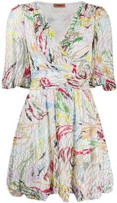 Missoni Abstract-Print Surplice Dress