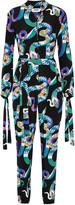 MSGM Printed silk-georgette jumpsuit