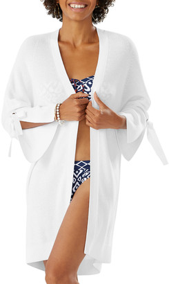 Tommy Bahama Tie-Sleeve Sweater Cardigan Coverup
