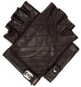 Chanel 2015 Quilted Fingerless Gloves w/ Tags