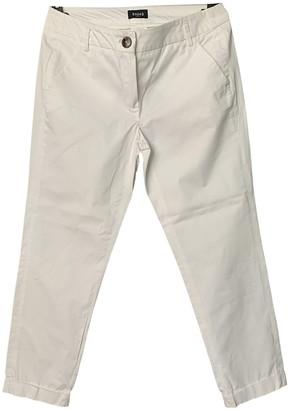Marella White Cotton Trousers for Women