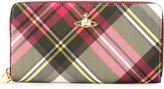 Vivienne Westwood checked zipped wallet - women - Artificial Leather - One Size
