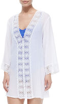 LaBlanca La Blanca Embroidered-Inset Tunic Coverup, Women's