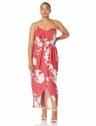 City Chic Women's Apparel Women's Plus-Size Formal Floral Maxi Dress Dress