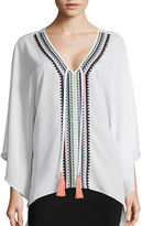 Bisou Bisou Embroidered Kaftan Blouse