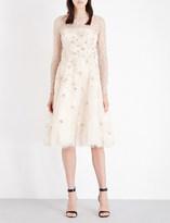 Oscar de la Renta Floral-lace underwired dress