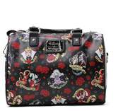 Loungefly womens Disney Villains And Roses Faux Leather Handbag Standard