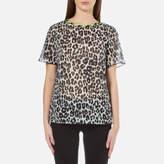 Marc Jacobs Women's Leopard Print TShirt - Bone