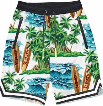 MC2 Saint Barth Hawaiian Dream Print Boy Swim Shorts