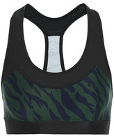The Upside Chrissy Printed Stretch-Jersey And Mesh Sports Bra