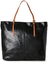 Latico Leathers Black Leather Buckle Tote