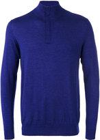 N.Peal The Regent fine gauge half zip jumper - men - Cashmere/Silk - M