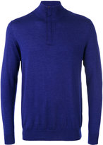 N.Peal The Regent fine gauge half zip jumper - men - Silk/Cashmere - S