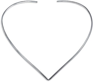 Bling Jewelry Basic Simple Slider Choker V Shape Collar Statement Necklace For Women 925 Silver Sterling Add Your Pendant