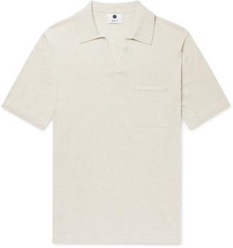 NN07 Ryan Knitted Cotton And Linen-Blend Polo Shirt