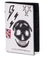 Alexander McQueen Skull Calfskin Leather Bifold Pocket Organizer