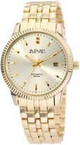 August Steiner Men's ASA824YG Diamond Automatic Bracelet Dress Watch