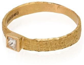 Orit Elhanati 18kt yellow gold Love square diamond ring
