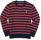 Ralph Lauren Striped Combed Cotton Sweater
