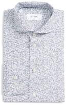 Eton Men's Slim Fit Music Notes Dress Shirt
