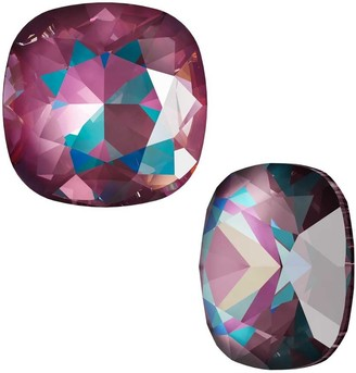Swarovski Crystal, 4470 Cushion Fancy Stone 12mm, 1 Piece, Crystal Burgundy DeLite