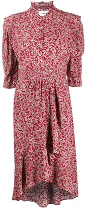 BA&SH Chelsea abstract floral-print dress