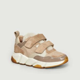 BEIGE 0 105 0-105 Leather Scratch Tap Ix Sneakers - 37   leather  
