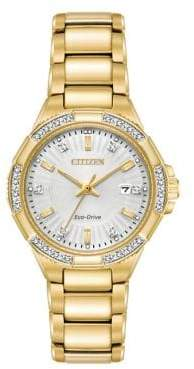 Citizen Diamond Riva Stainless Steel 3 Hand Basic Bracelet Watch