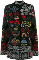Alexander McQueen cross-stitch jacquard cape