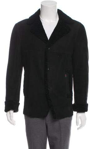 Gucci Suede Shearling Jacket
