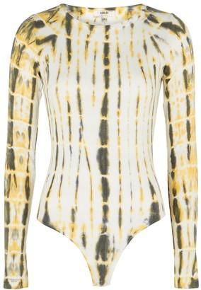AGOLDE Leila tie-dye stretch-jersey bodysuit