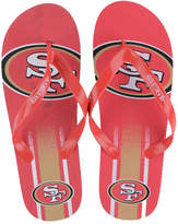Forever Collectibles San Francisco 49ers Gradient Big Logo Flip Flops
