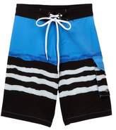 Snapper Rock Wave Stripe True Boardie Shorts (Toddler, Little Boys, & Big Boys)