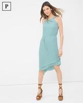 White House Black Market Petite Asymmetric-Hem Halter Dress