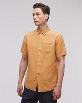 Linen Garment Dye Short Sleeve Regular Shirt
