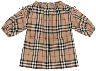 BURBERRY KIDS Baby Check cotton smock dress